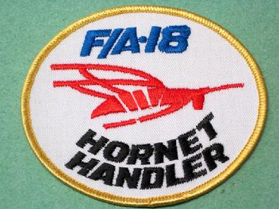 FA-18 HORNET THE MCDONNELL DOUGLAS Embroidered Iron on Patch Free Postage